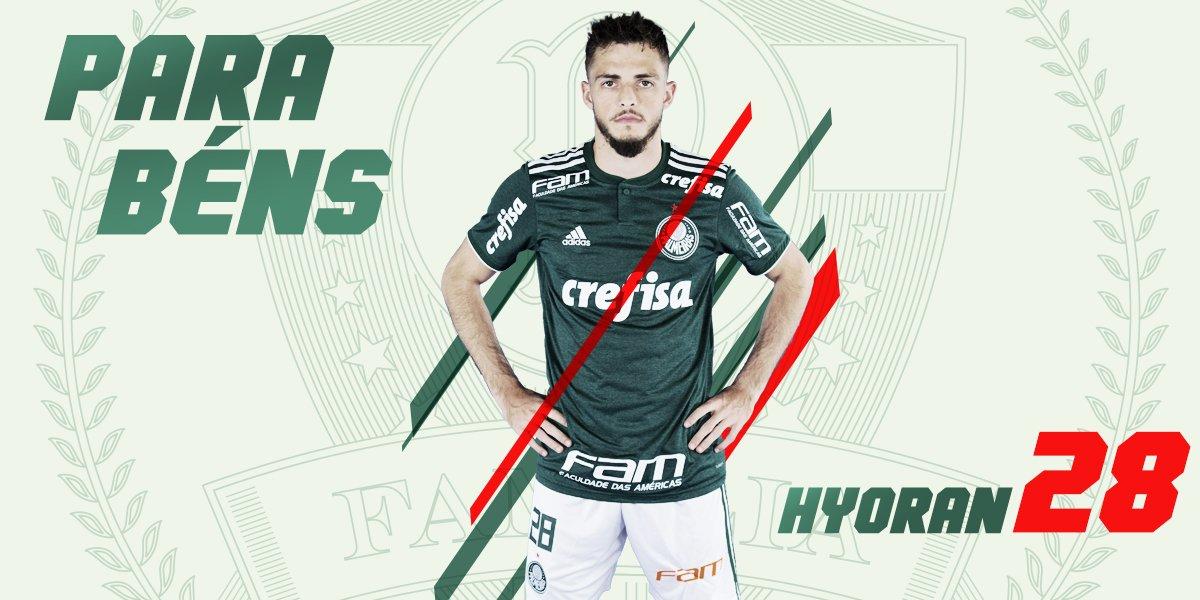 O garoto já deixou gol em clássico e em jogo de Conmebol Libertadores. Feliz aniversário, Hyoran! 🎉  Camisa I Palmeiras ➤ https://t.co/yGqC1k4eD9 #FamíliaPalmeiras