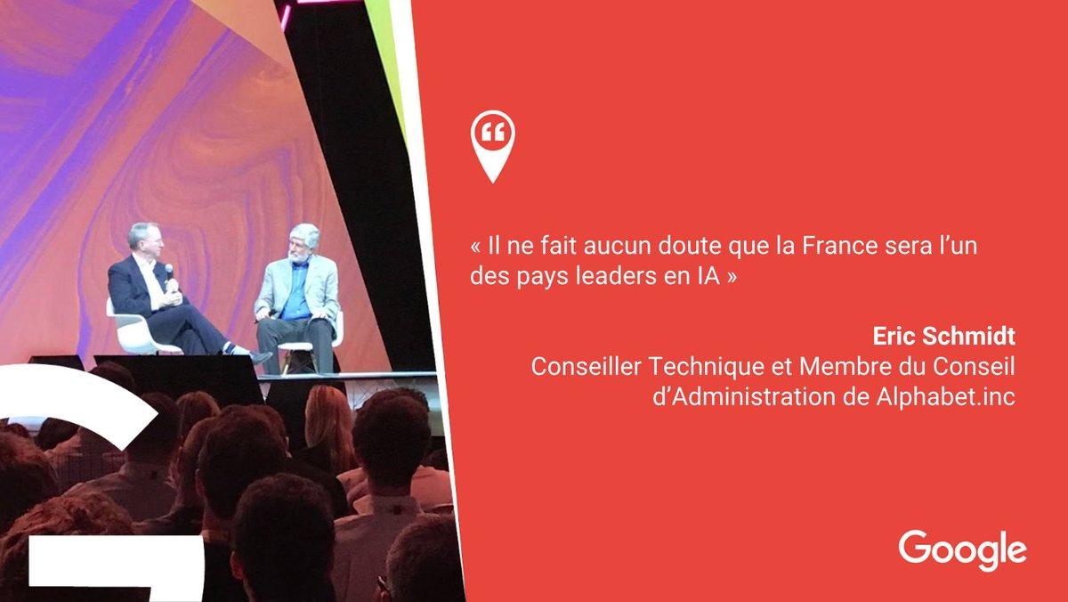 Cocorico 🐔 @ericschmidt le confirme : la France, pays pionnier en #IA