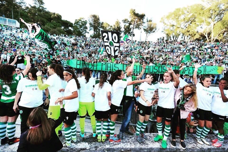 Domingo, queremos repetir a festa do ano passado! 🏆  Vamos, Leoas! 💪🏻  🏆 Taça de Portugal ⚽️ #SportingCP 🆚 SC Braga 📆 Domingo  ⌚️ 17:15 🏟 Estádio Nacional, Jamor 📺 RTP1