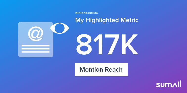 My week on Twitter 🎉: 215 Mentions, 817K Mention Reach, 1.93K Likes, 350 Retweets, 85 Replies. See yours with https://t.co/vgcw2lh6L8