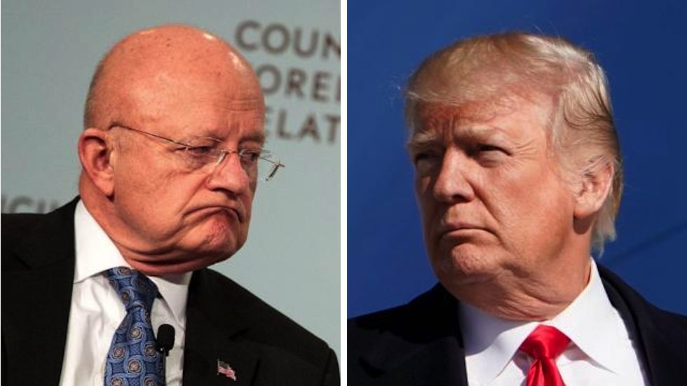 Clapper fires back at Trump: Distorting my comments on Russia probe is Orwellian https://t.co/ADWZTj7LqR https://t.co/L5lHg6pPCY