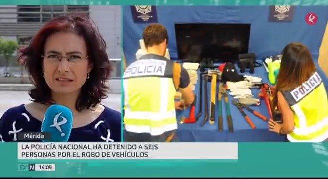 La @policia ha desarticulado un grupo criminal dedicado al robo de vehículos y en establecimientos en toda #Extremadura. 6 personas han sido detenidas y 2 están ya en prisión. #EXN https://t.co/S1XW3N7OWQ