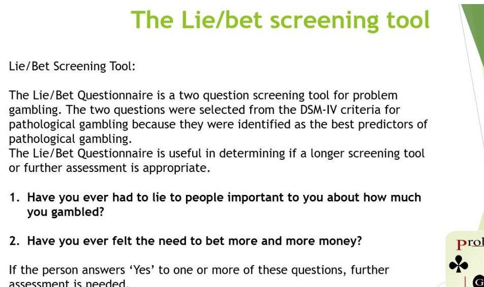 Screening tools pathological gambling slot machines for sale near me
