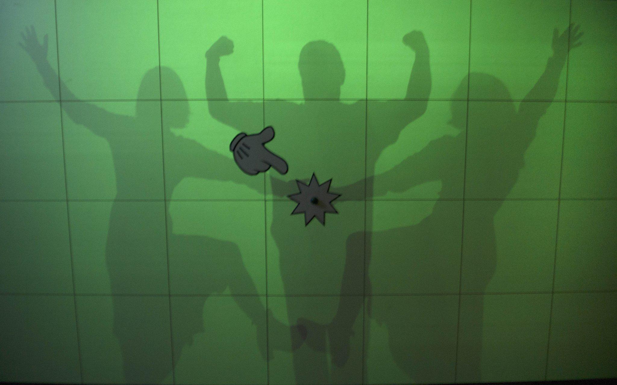 Lucky Luke shadow wall