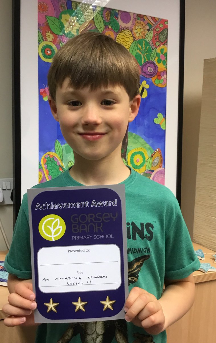 test Twitter Media - A massively well deserved award for an outstanding session delivered this week by this talented @GorseyY3 @Gorsey_eCadets 👏👏👏  @ecadets #gorseycomputing https://t.co/5ApuEBcRKL