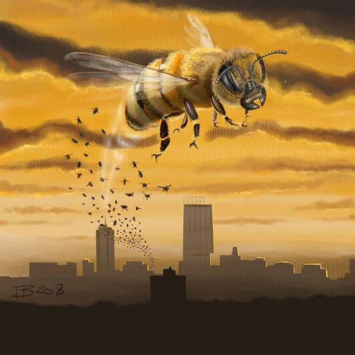 540e0fa080ba  colour collective  Gamboge  Clr Collective  bee  Manchester  ProcreateApp   SaturdayScribbles  SatScribbles  bees  manchesterbee  ManchesterTogether  ...