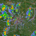 Image for the Tweet beginning: Radar zoomed in on the