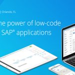 Now you can extend the power of SAP: #Mendix's visual development & full application lifecycle support empowers developers to build #apps without writing a single line of code. Schedule a demo for #SAPPHIRENOW: https://t.co/fPTzp8LmPi