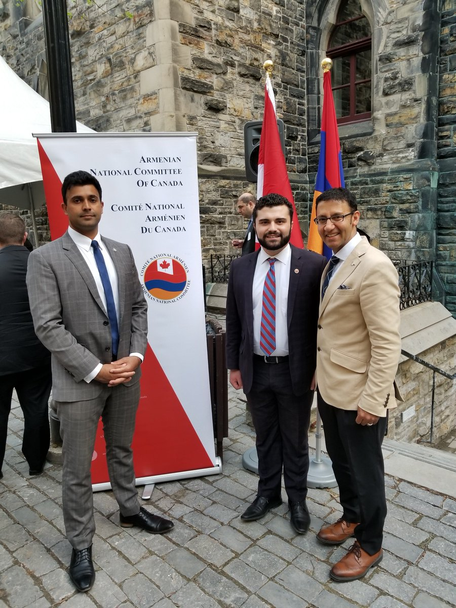 It was a pleasure to join my colleagues to welcome the Ambassador of Armenia at the celebration of the 100th anniversary of the First Republic of Armenia on Wednesday! Thank you to @ancc_cnac for joining us and to my colleague @_BryanMay for hosting! <br>http://pic.twitter.com/RWJTzrc7AM