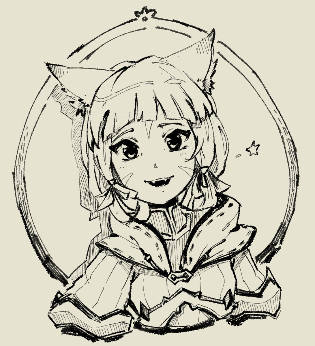 I made myself a new sketching pen in CSP and I really like it  #Xenoblade2 #Nia #ゼノブレイド2 #ニア<br>http://pic.twitter.com/2aGYjgabBW