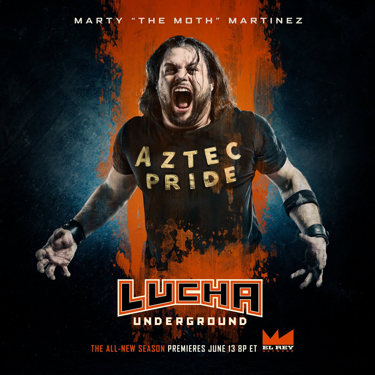 He flaps his wings with Aztec Pride. He is MARTY THE MOTH MARTINEZ! The all-new season of @LuchaElRey begins WEDNESDAY JUNE 13th 8p ET on @ElReyNetwork!! #luchaunderground #luchalibre #prowrestling #wrestling #martythemoth #aztecpride #newseason #ridewithelrey @martincasaus<br>http://pic.twitter.com/lLK2HZb8PZ