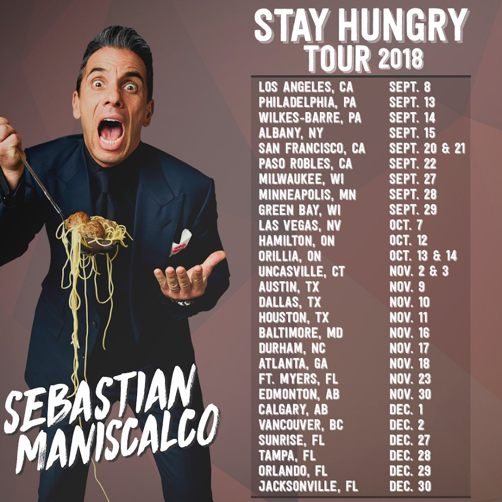 Sebastian maniscalco tour dates in Brisbane