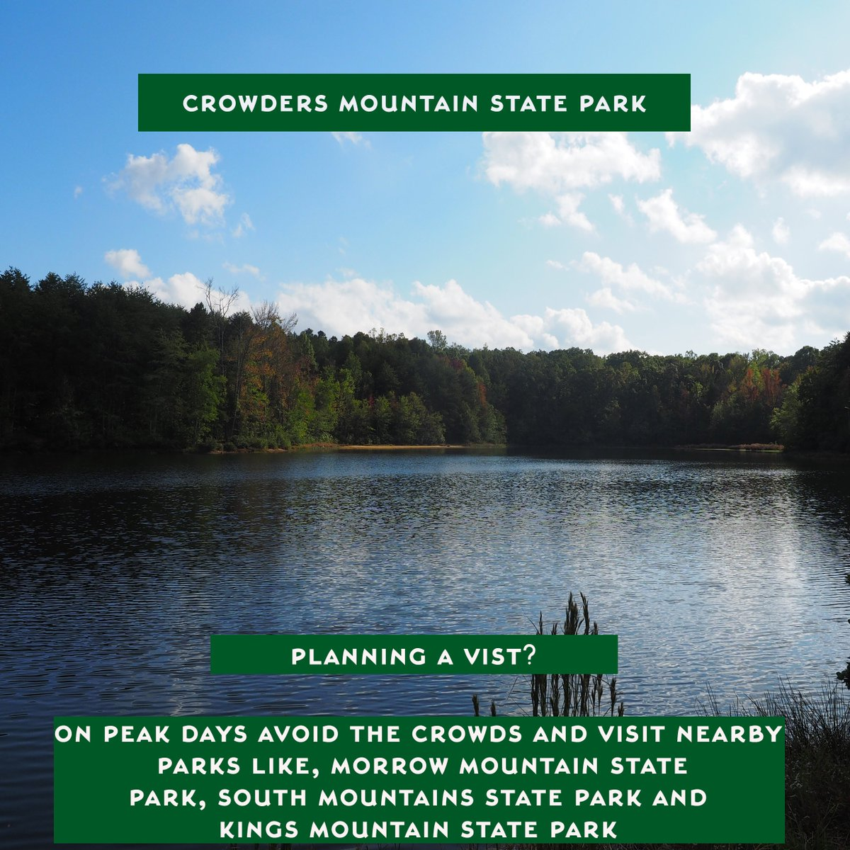 NC State Parks on Twitter Planning on visiting Crowders Mountain – Peak Park Planning
