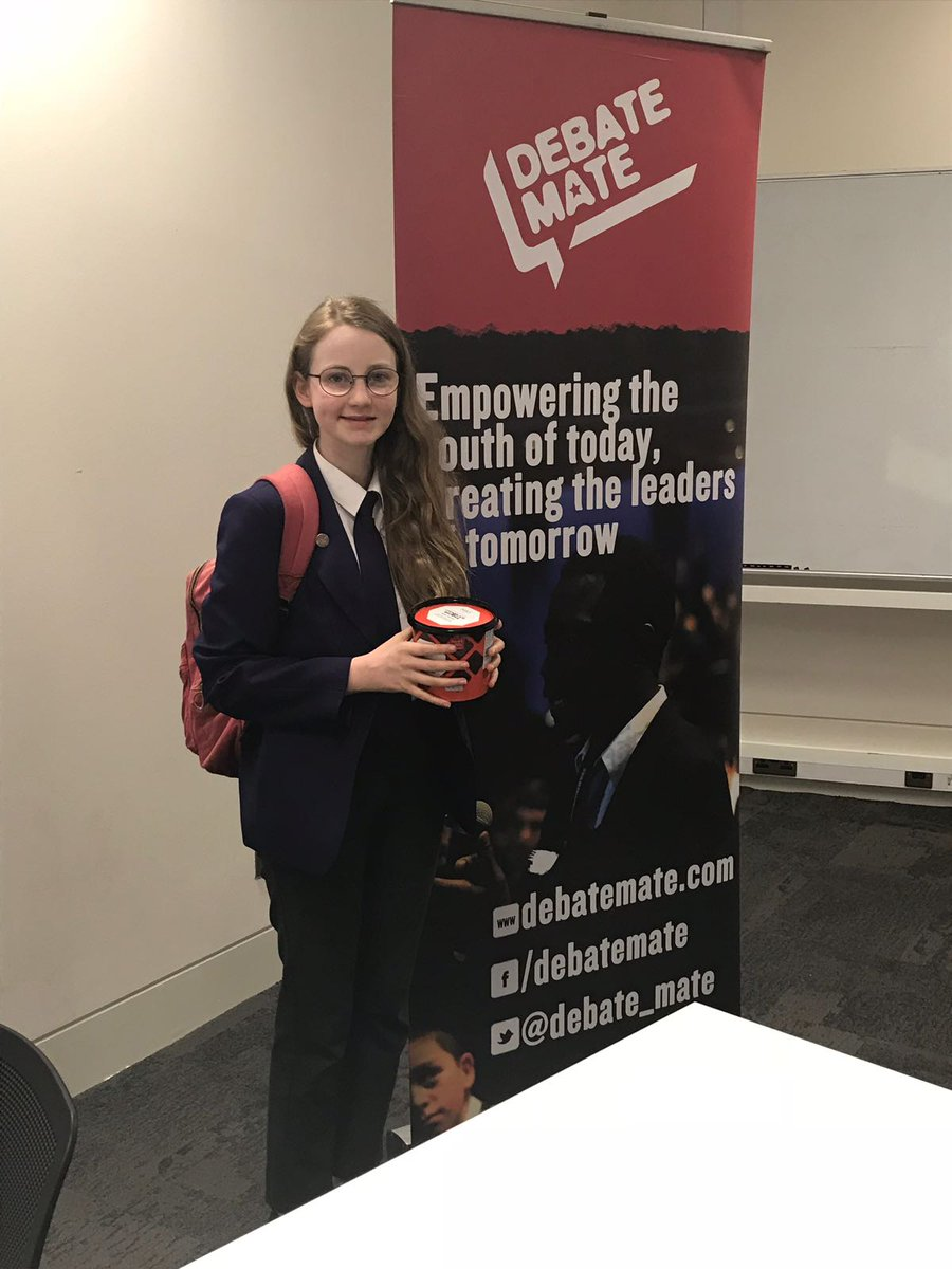 Autumn Parker awarded best floor speech out of all of the competitors today. Well done, Autumn! What an achievement! #debatemate #publicspeaking @DCC_News @DCC_EnglishDept @Debate_Mate<br>http://pic.twitter.com/5AEGsHootp