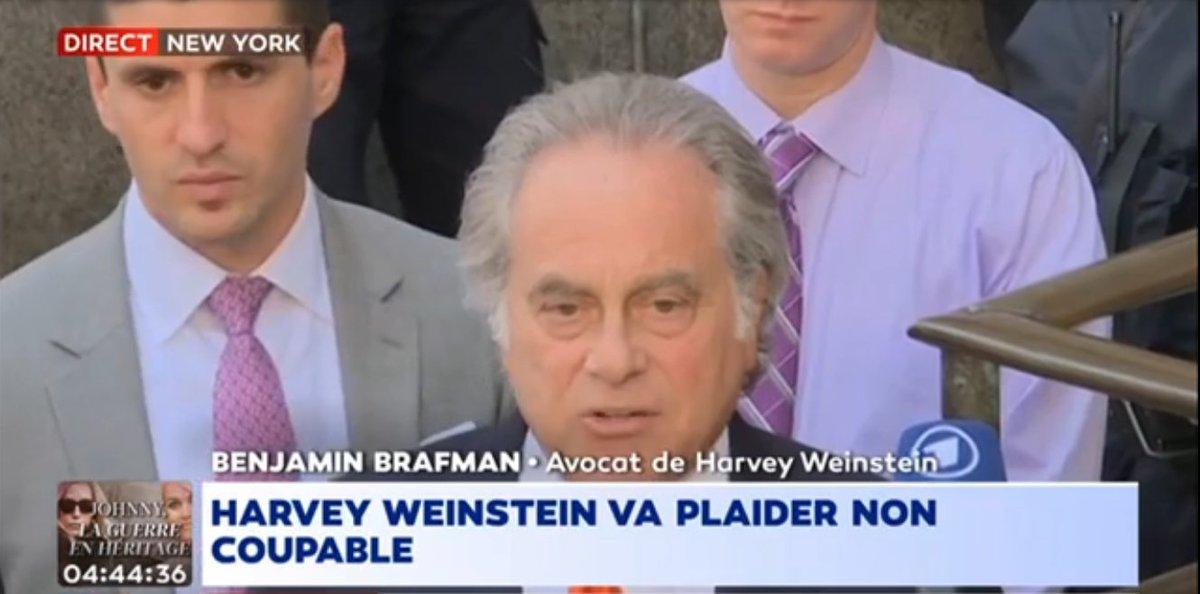EN DIRECT - #HarveyWeinstein va plaider 'non coupable' > https://t.co/MblzxMUDG0