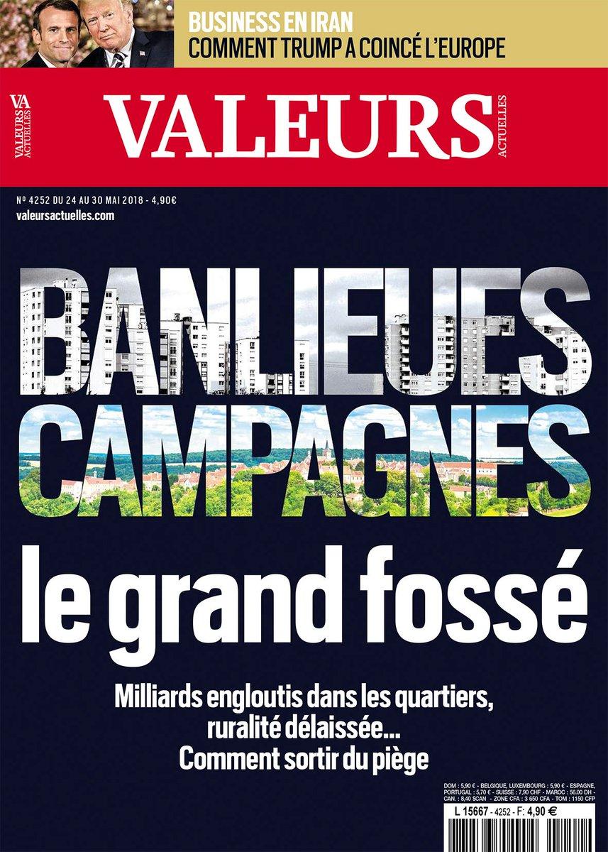 En couverture de Valeurs cette semaine : Banlieues - campagnes, le grand fossé >> https://t.co/E4cukv5ZiE