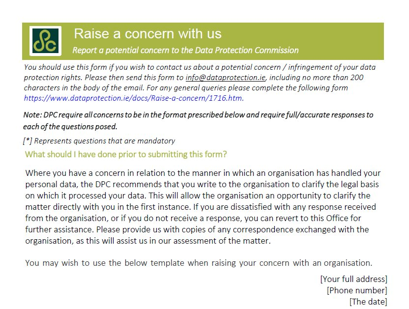 Data Protection Commission Ireland On Twitter Do You Need To Raise