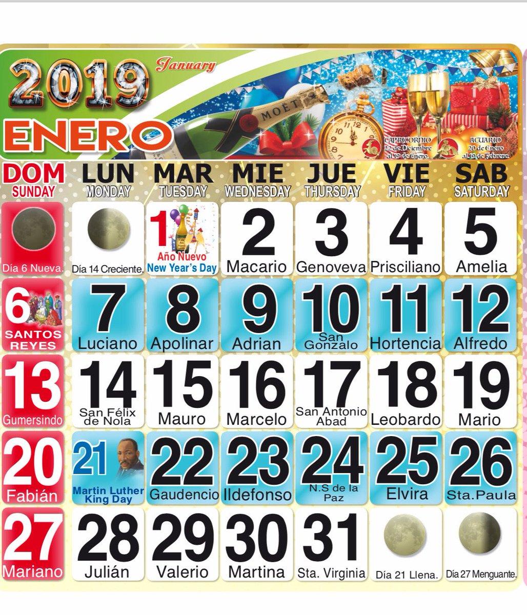Calendario Santoral 2019.Top 10 Punto Medio Noticias Calendario 2019 Mexico Con Dias