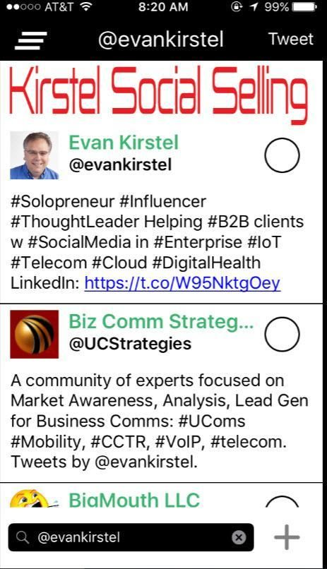 """Stop Typing and Start Talking with """"Visual Voice HashNewsGram 3.5 Integrated with @EvanKirstel #SocialSelling Strategy  http:// snip.ly/yqir7  &nbsp;   via @TelecomReseller @techtionary #selling #sales #CEO #CFO<br>http://pic.twitter.com/6nUa4jsW31"""