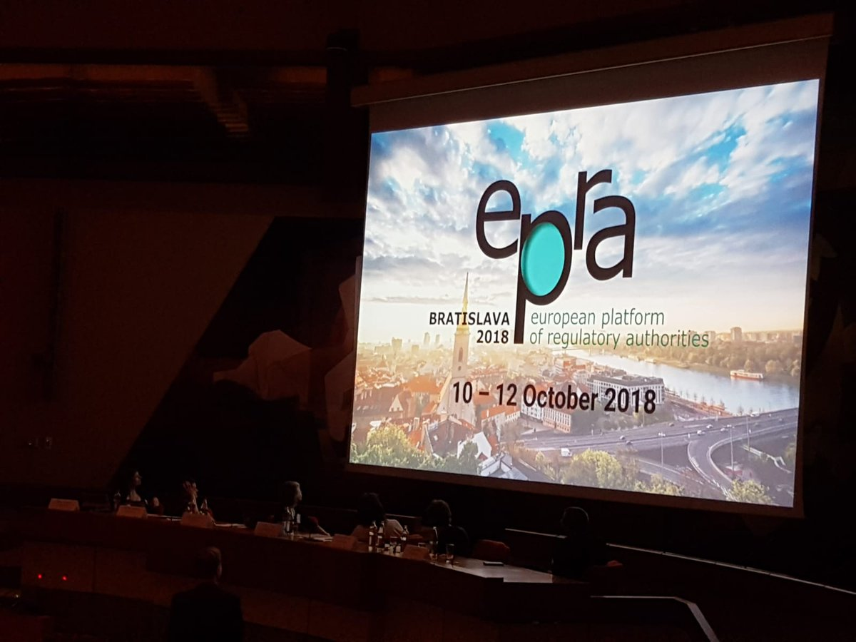 After a successful 47th #EPRA meeting hosted by Luxembourg&#39;s #ALIA, we are inviting the European Regulators for the 2nd time in history to Bratislava. We are happy that the debates on the role of regulators in the changing media environment are moving to #Slovakia.<br>http://pic.twitter.com/s5Jx60XWeh