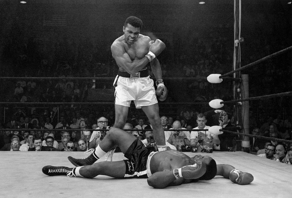 53 years ago today, Muhammad Ali silenced Sonny Liston in just one minute and 44 seconds