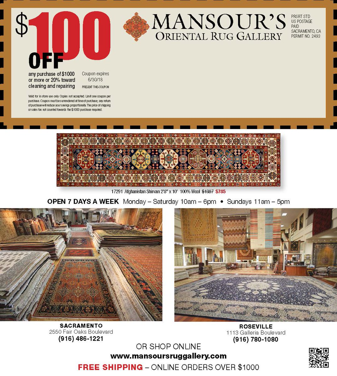 Mansour S O R G On Twitter Annual Rug Free Shipping Online Orders Over 1000 And 100 Off Coupon We Are Open All Weekend For Memorial Day