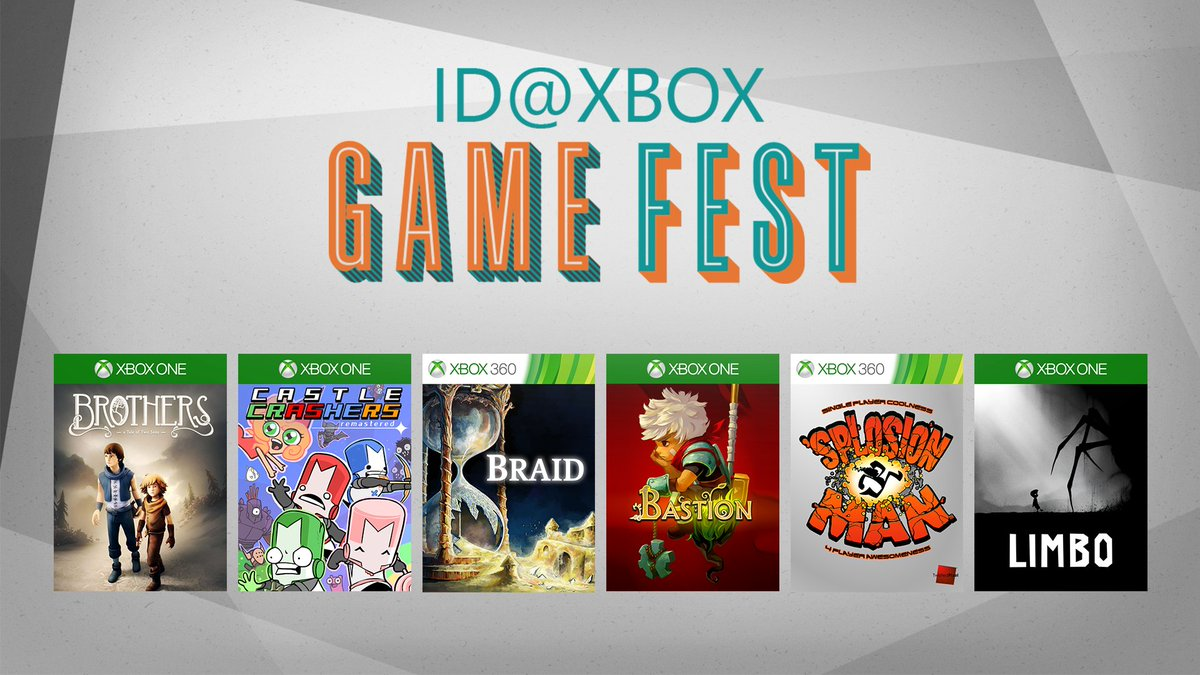ICYMI: the last week of ID@Xbox Game Fest is here and focuses on celebrating the Summer of Arcade 10-year anniversary. Read more about it here https://t.co/NGyEfojO2T and check out the Game Fest sale here https://t.co/5bnNLyCoNq