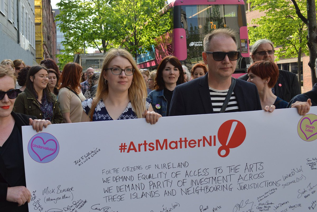test Twitter Media - Yesterday we delivered a clear message to @CommunitiesNI . 🗣️We are not #WorthLess   #ArtsMatterNI https://t.co/MWeYGPAfex