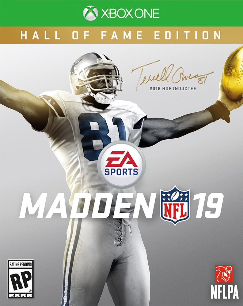 .@terrellowens will be on the cover of #Madden19 Hall of Fame edition