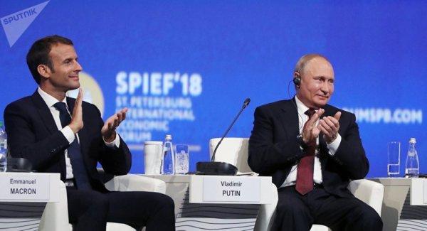Macron appelle les sociétés françaises à investir davantage en Russie https://t.co/B3JczG8LQf #Allemagne