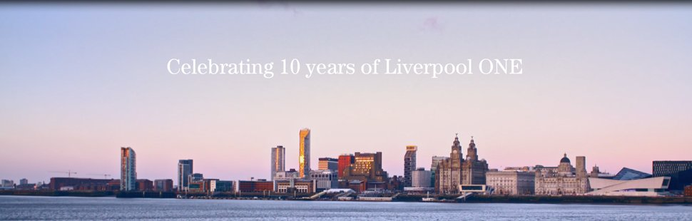 We&#39;re celebrating a decade of urban transformation this Bank Holiday Monday, marking the tenth anniversary of the opening of phase one of @Liverpool_ONE. See our moving film tribute here  https:// bit.ly/2HkDhKt  &nbsp;    #LiverpoolONEisTEN #livingcities <br>http://pic.twitter.com/VsXbf6A5og