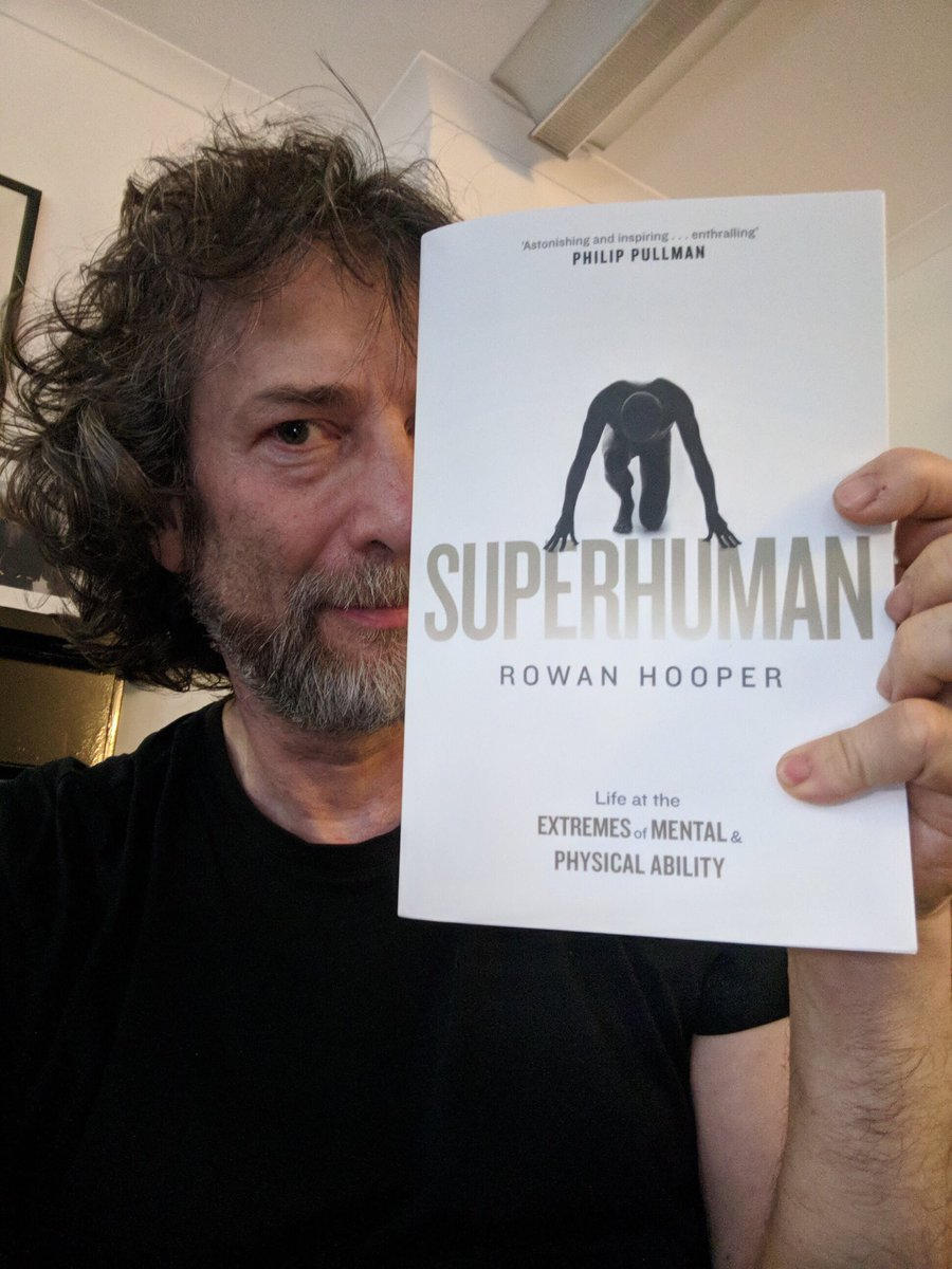 Was given @rowhoop's book, Superhuman. Really looking forward to learning about resilience, recovery and the edges we can go to as humans. <br>http://pic.twitter.com/B3fkmi82lN