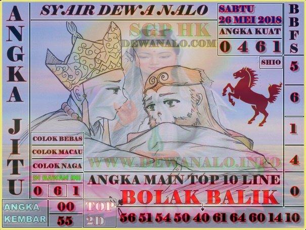 Syair Dewa Nalo Sabtu 26-05-2018