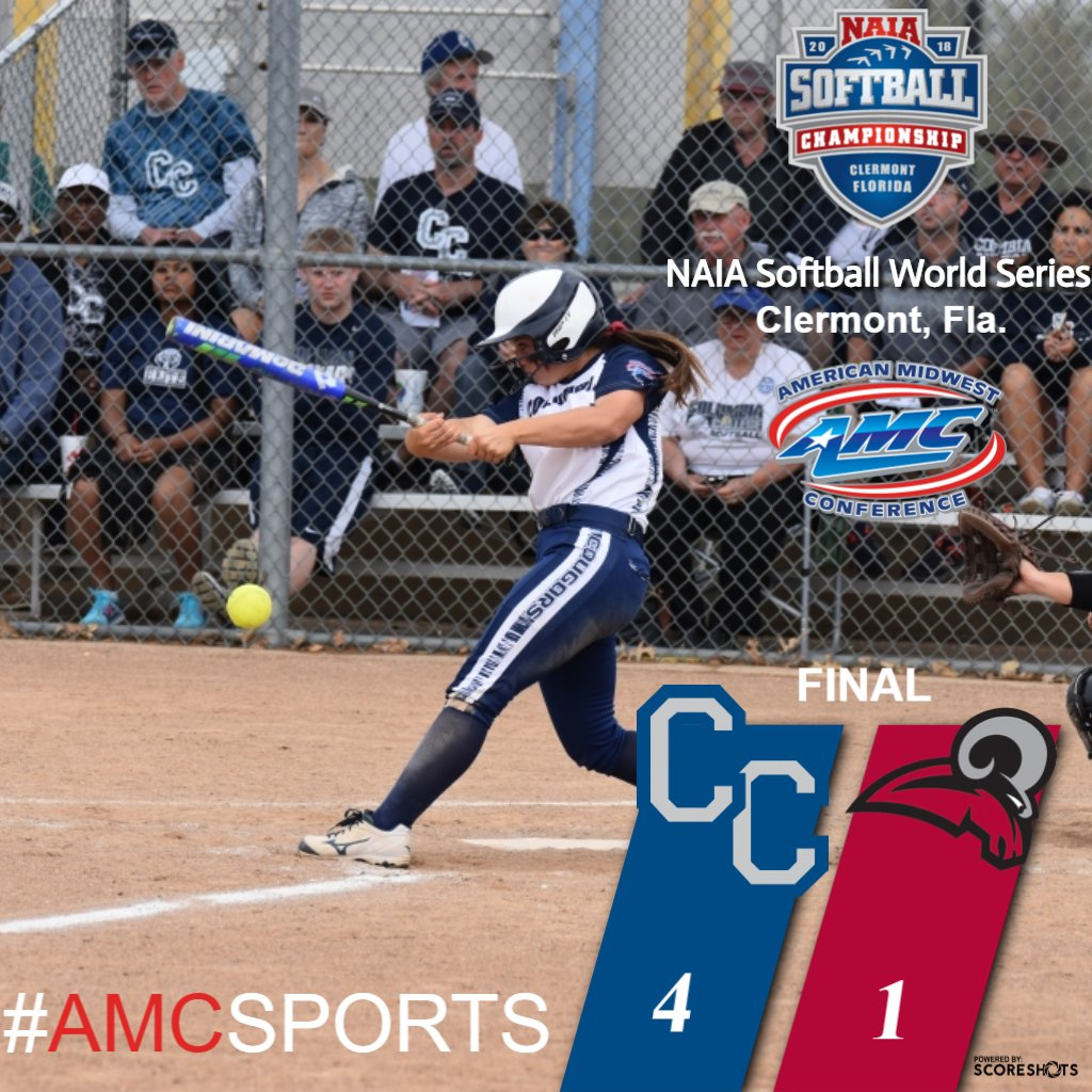COUGARS WIN! @Columbia_SB knocks off Mobile (Ala.) to advance in the @NAIA Softball World Series! #AMCSPORTS #NAIASOFTBALL<br>http://pic.twitter.com/8FYtNkChRZ
