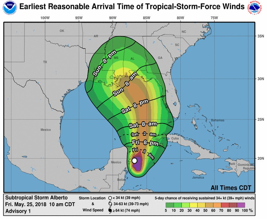 #TSAlberto could bring heavy rainfall to parts of Mississippi this weekend. For the most up-to-date road conditions, visit https://t.co/YpM4Q4YH51. For safety tips, visit https://t.co/PAjuUUI9lU. #mswx #MSPrepares