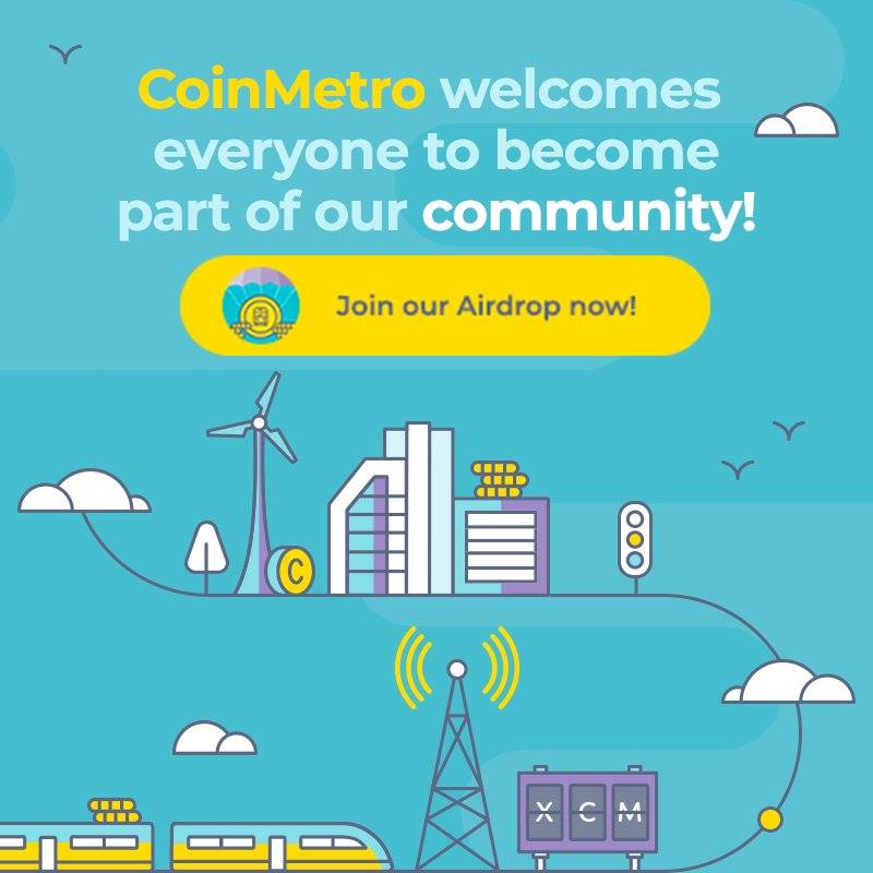 Join our telegram group  http:// t.me/CoinMetro  &nbsp;   to get the password and participate in the #CoinMetro #Airdrop Visit us today:  http://www. coinmetro.com  &nbsp;   #Crypto #Cryptoexchange #Blockchain #Cryptocurrency<br>http://pic.twitter.com/nX25EAm4Ur