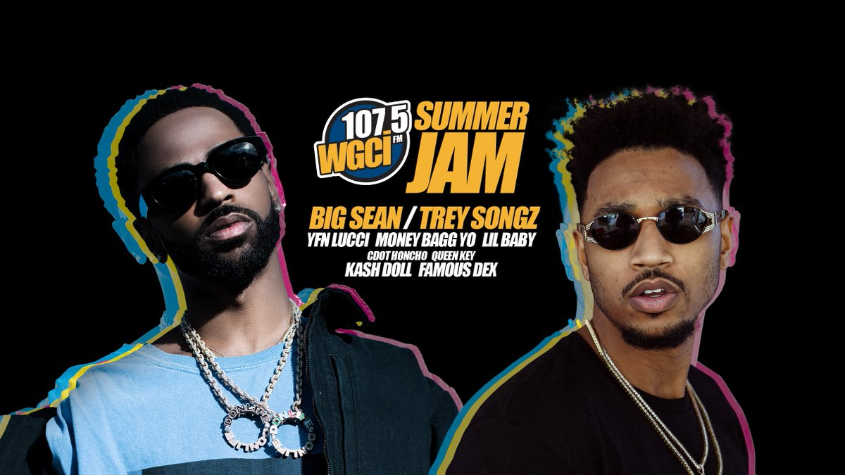 ICYMI: Tickets to see @WGCI SUMMER JAM are on sale now! 🔥  Get #WGCISummerJam seats: https://t.co/JqfhIQxoFQ  On July 26, don't miss @BigSean, @TreySongz, @YFNLUCCI, @MoneyBaggYo and more.