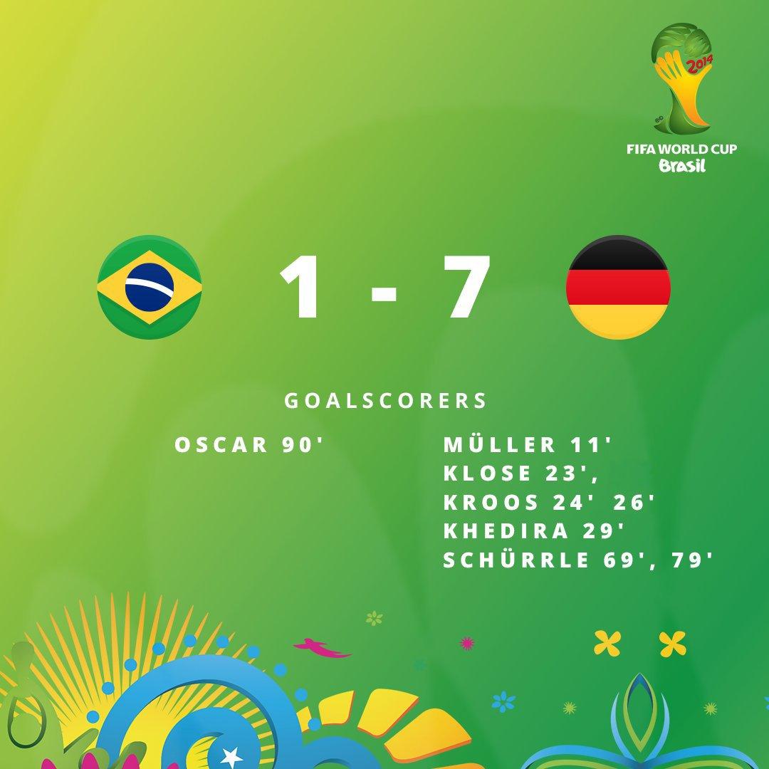 ⏪ WORLD CUP REWIND ⏪  2⃣0⃣1⃣4⃣ L'Allemagne est en finale de la Coupe du Monde !!! 👏 Le ciel est tombé sur la tête du Brésil... 😱