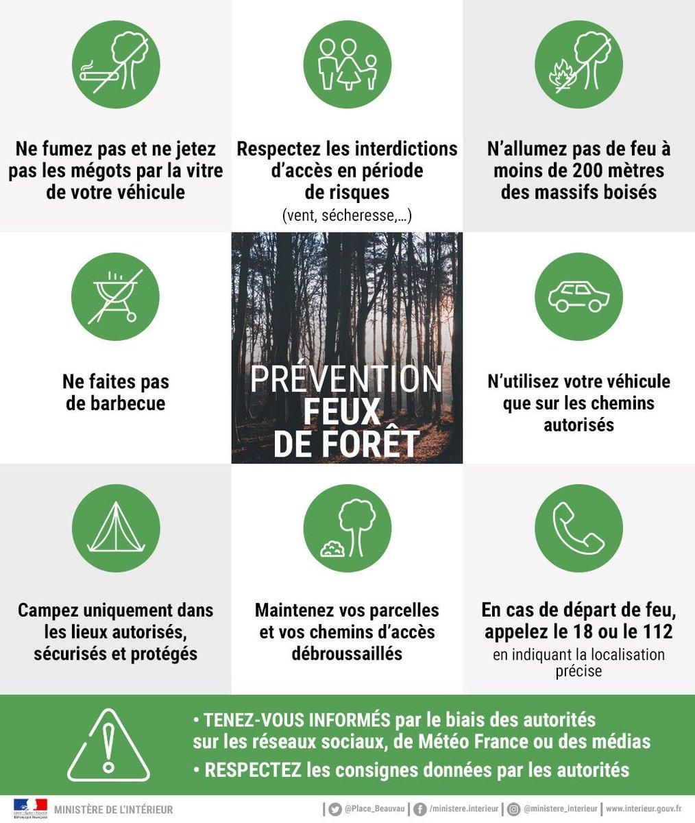 🌲🔥 Lutte contre le #feuxs  de forêt : la prévention est l'affaire de tous ! Suivez nos conseils et signalez tout départ de feu en appelant le 1⃣8⃣ ou le 1⃣1⃣2⃣