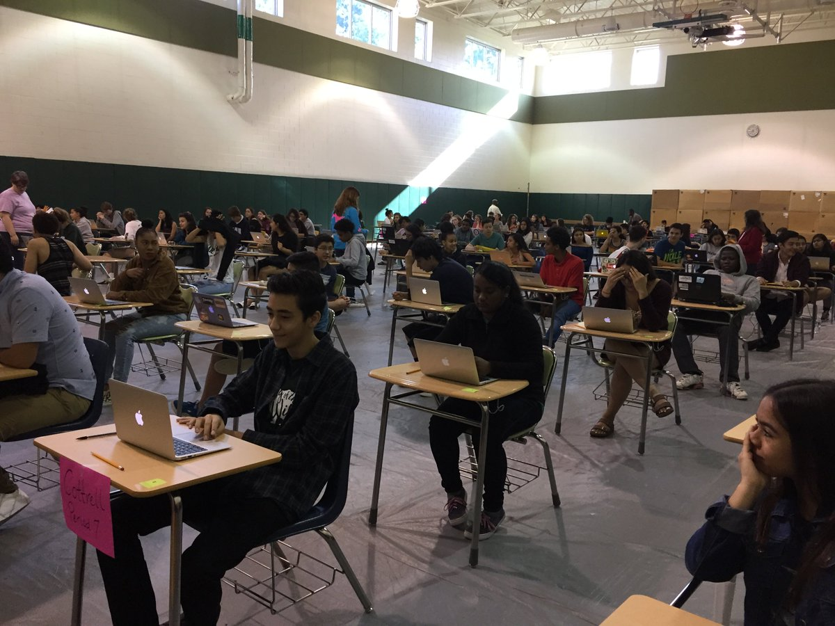 Students beginning another day of SOL testing. Can you feel the excitement?<a target='_blank' href='http://search.twitter.com/search?q=RocktheSOLs'><a target='_blank' href='https://twitter.com/hashtag/RocktheSOLs?src=hash'>#RocktheSOLs</a></a> <a target='_blank' href='http://twitter.com/wakefieldchief'>@wakefieldchief</a> <a target='_blank' href='http://twitter.com/WakeLibrary'>@WakeLibrary</a> <a target='_blank' href='https://t.co/C5FDNZvkr1'>https://t.co/C5FDNZvkr1</a>
