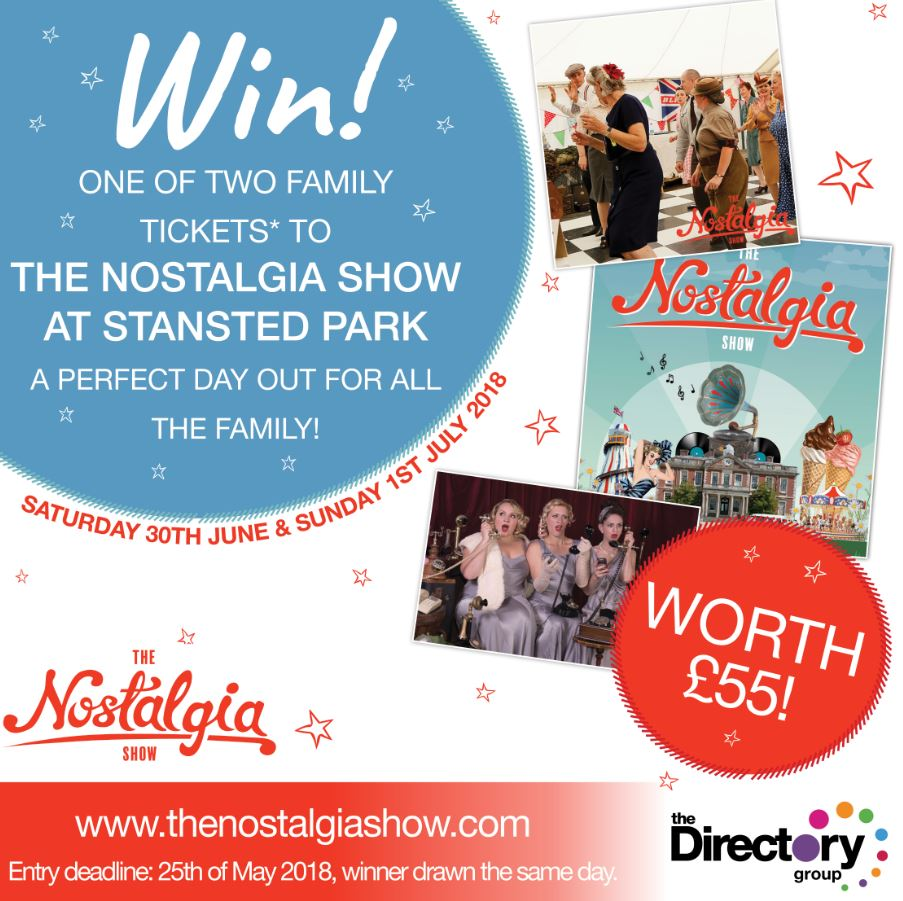 You could #win one of two family tickets to The Nostalgia Show at Stansted Park which takes place at the end of next month (June-July 2018). All you need to do to enter is like, retweet this competition and comment on the area in which you live (eg: Petersfield). #Hampshire<br>http://pic.twitter.com/1oQWXLUHyS