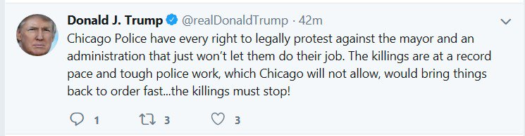 Trump's claim that Chicago homicide is at a record pace is wildly wrong. In fact, it is down 22% from last year. Shootings are down 27%. Police say gun violence has been down year-over-year for 14 consecutive months.