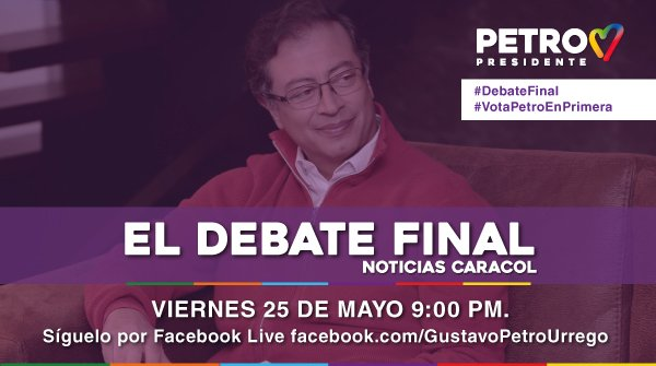Gustavo Petro's photo on #DebateFinal