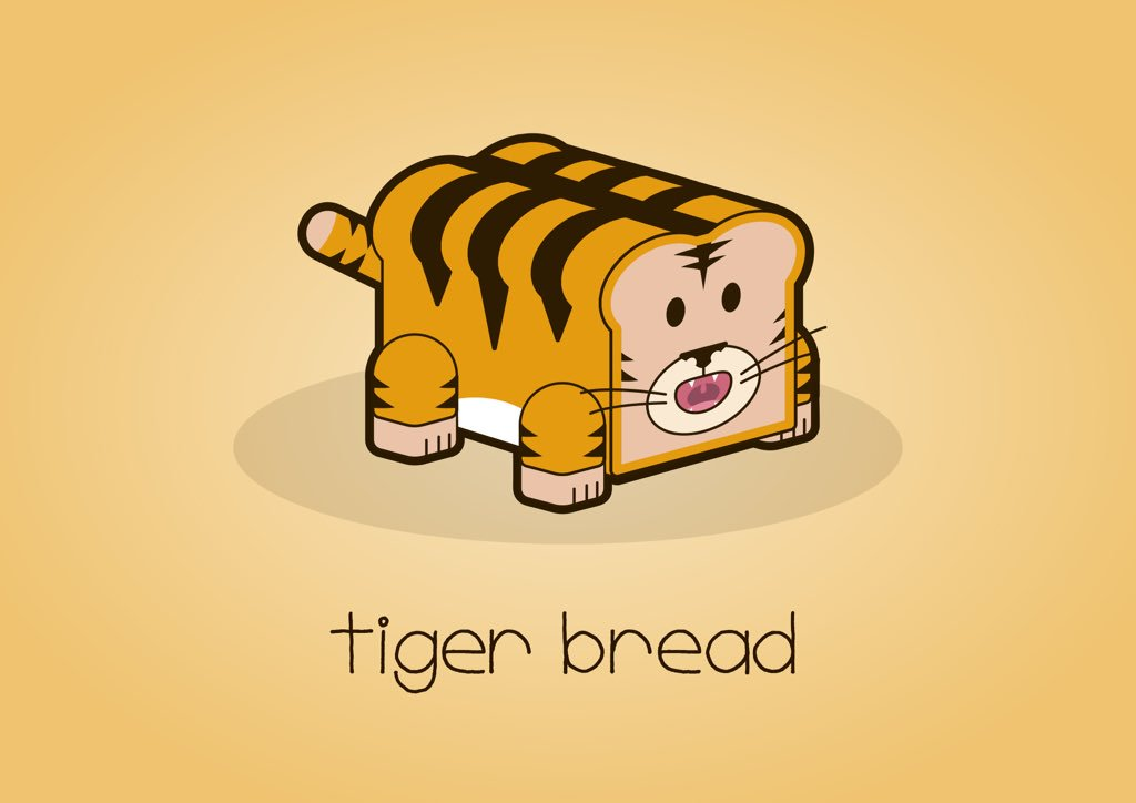 ffa928b4f77b  colour collective  Gamboge  tigerbread  tiger  baking  illustration   cartoon  characterdesignpic.twitter.com JAO9RhBwsY