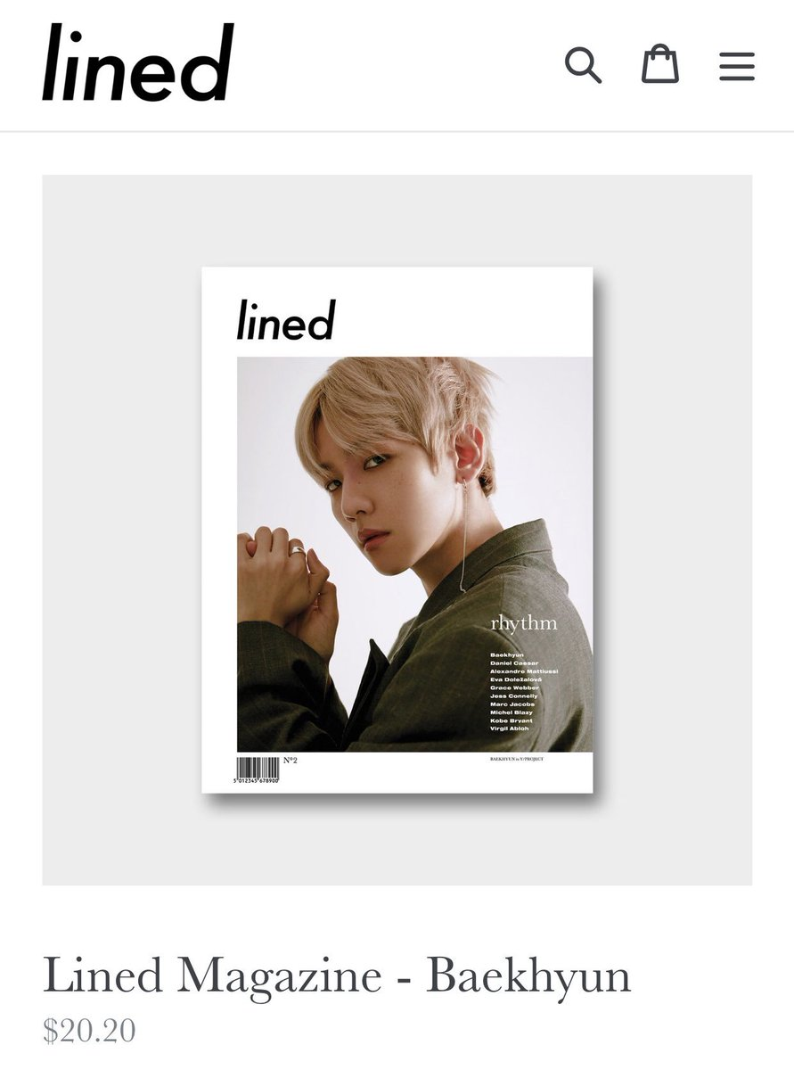 Lined Magazine - #EXO (@weareoneEXO) #BAEKHYUN  Buy:  https:// linedstore.com/collections/fr ontpage/products/lined-magazine-kai-of-exo &nbsp; … <br>http://pic.twitter.com/JnGA63FSAx