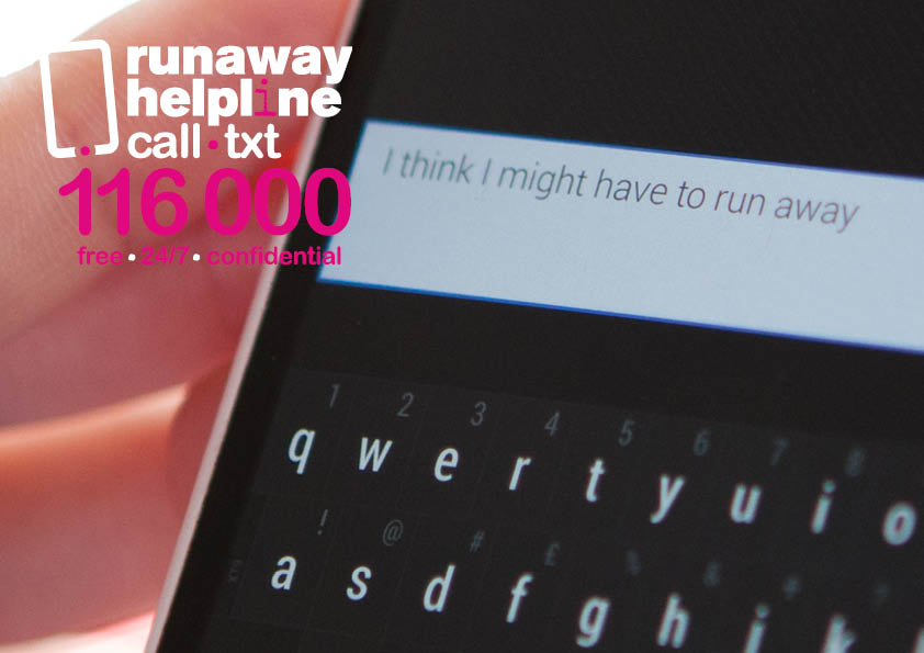 We don't want to see any more children go missing. If you or someone you know is thinking about running away from home, @RunawayHelpline can listen to your problems and help you decide what to do. It's free, confidential, and you can text if it's not possible to call. 116 000.