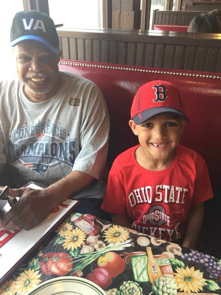 Having fun with Grandpa Boston before heading to Fenway. #creatingmemories <br>http://pic.twitter.com/BHOKT3Yssr