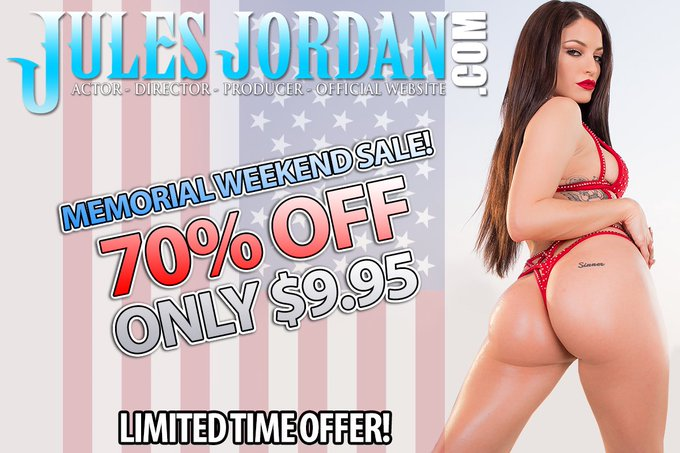 Memorial Day 70% off SALE on https://t.co/znGThgT5vB!!!! Sign up now to see all my firsts!!!!!! @JulesJordan💦
