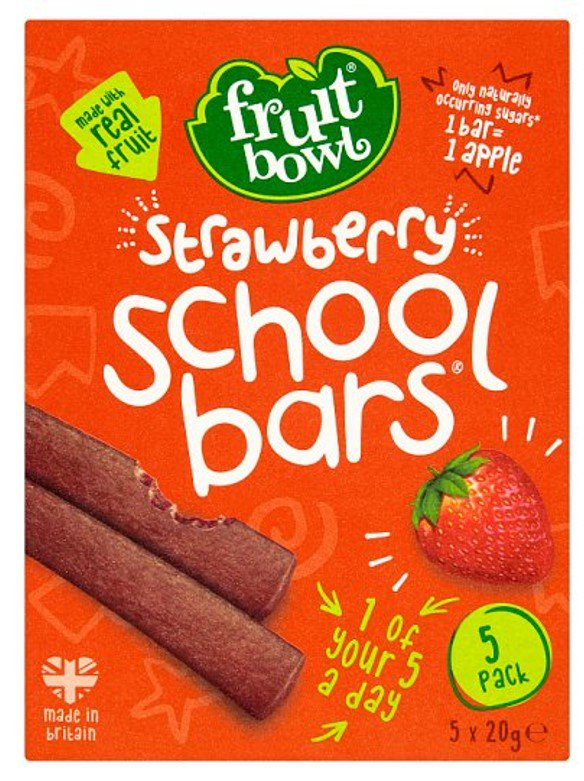 Fruit bowl strawberry school bars: 1 bar =0.5g protein (0.5 PKU exchange). Now contain flax seeds. <br>http://pic.twitter.com/2N4k0dc5lx
