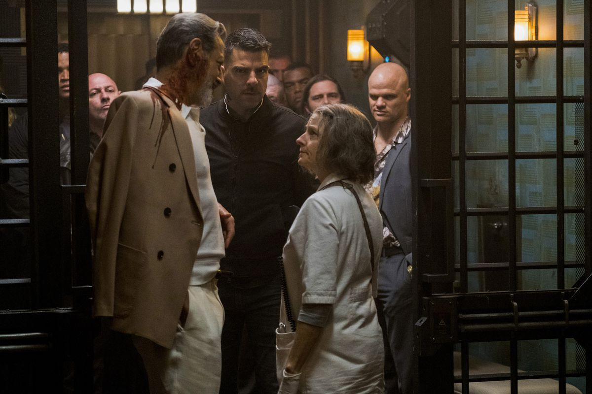 Watch an eccentric group of criminals, played by @SterlingKBrown, Charlie Day, @JennySlate, and Jeff Goldblum, check into Jodie Fosters Hotel Artemis in new Red-Band trailer: cos.lv/4Ato30kbFb0
